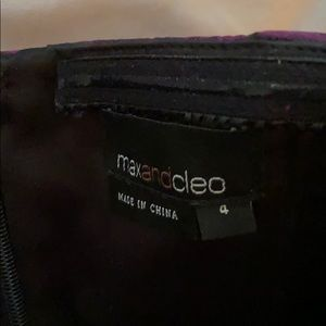 Max & Cleo Dresses - Purple and Black Strapless Pleated Dress